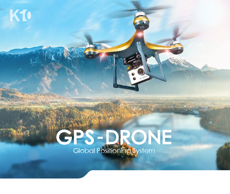 XKY K10 GPS Drone WiFi FPV Drone with Adjustable HD ESC Camera Wide Angle + Altitude Hold RC Quadcopter Drone -min Flight Time 4