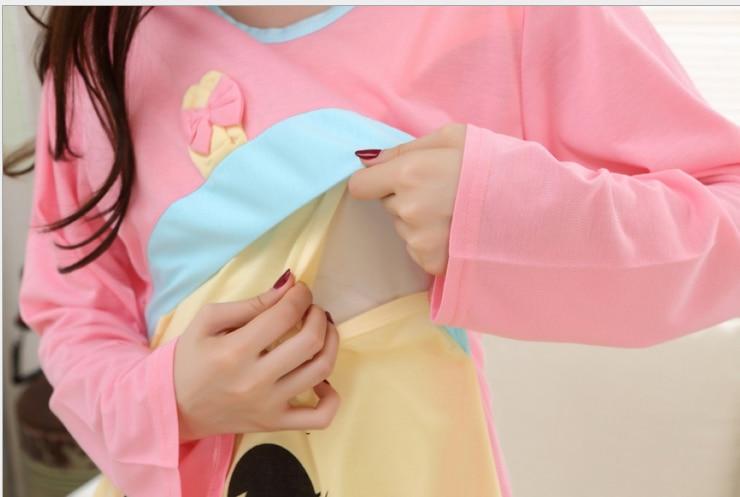 2019 3pcs/set lace hem hat long sleeve nursing tees and full length pants clothing set maternity plus size breastfeeding pajamas