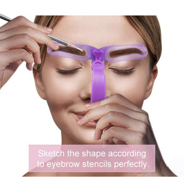 New 1Set Eyebrow Stencil 8 Styles Eyebrow Shapes DIY Grooming Stencil Kit Shaping Templat Eyebrow Stencil Tool 0514#30 2