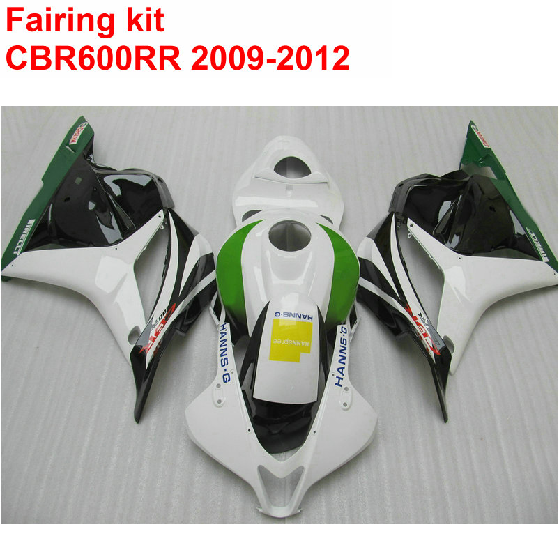 Injection molding Fairing kit for HONDA cbr600rr 2009 2010 2011 2012 CBR 600 RR white black green ABS fairings 09 10 11 12 LK25