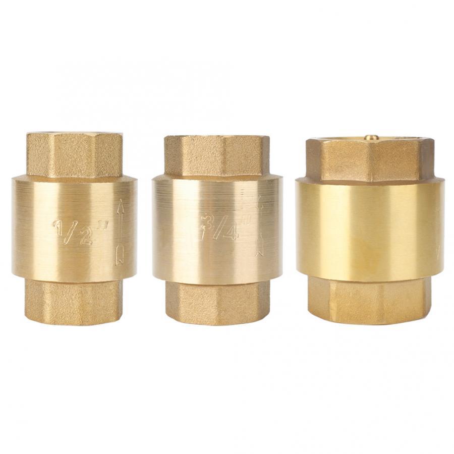 Check Valve G3//4 High Accuracy Brass Threaded Check Valve One Way Non-Return Check Valve for Water Gas Oil