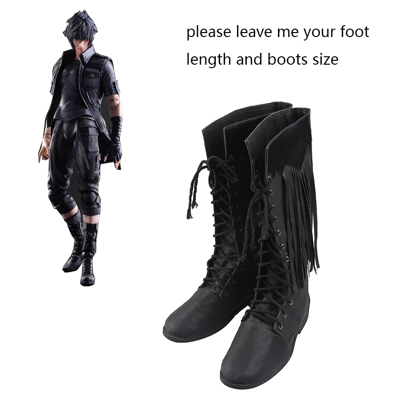 Final Fantasy XV Cosplay Shoes Noctis Lucis Caelum Cosplay Boots Adult Men Game Shoes Halloween Christmas Accessories Customized