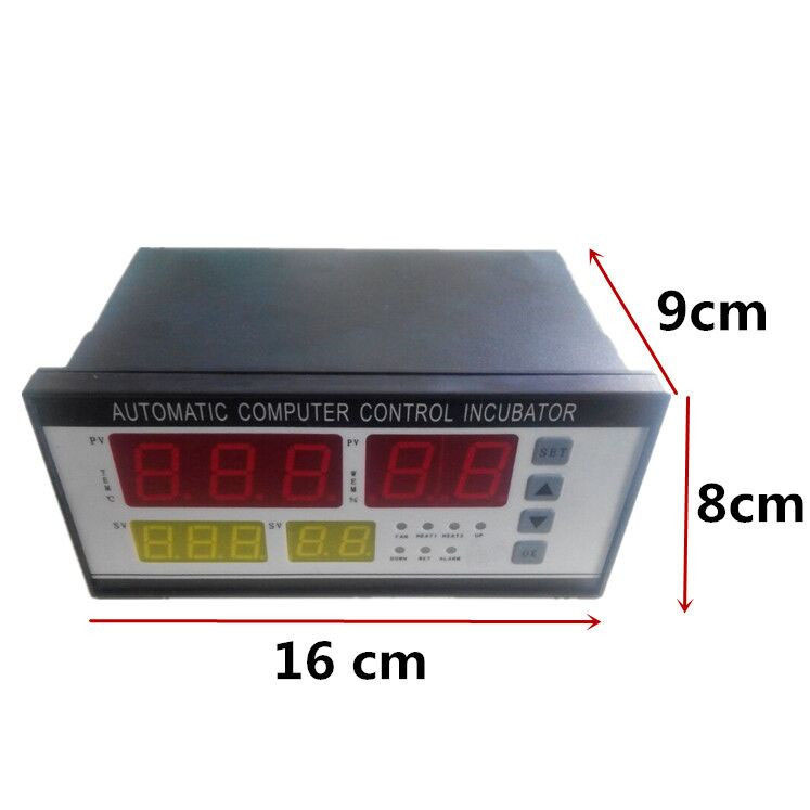 Práctico Digital controlador automático incubadora Temperatura del aire humedad disco conjunto