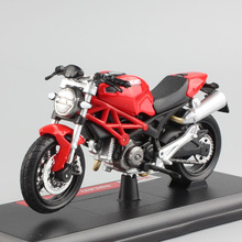 Maisto Brand 1/18 scale mini Child Monster 696 roadsters bike metal diecast motorcycle race motor car styling model Toy for boy