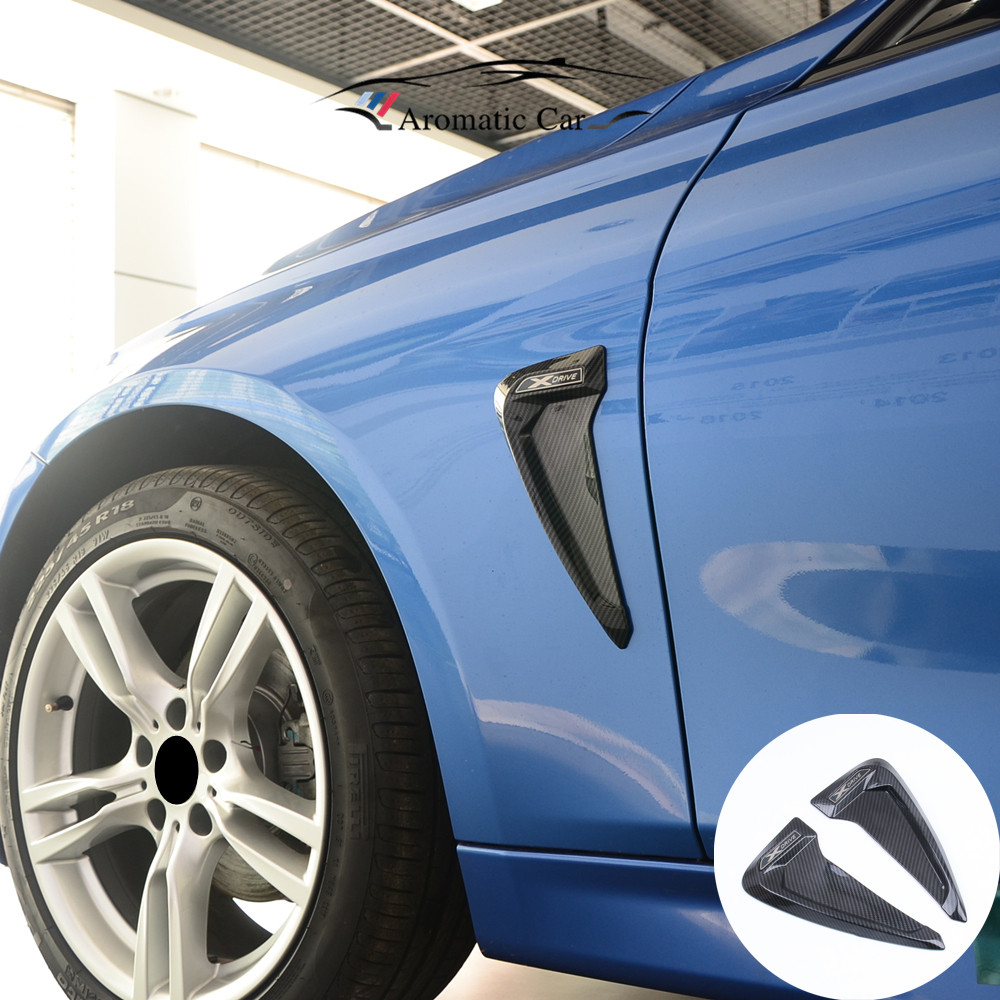 Universal Carbon fiber TPU Car Front Fender Side Air Vent Cover Trim Shark Gills Side Vent Sticker