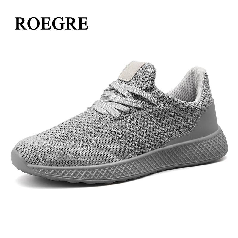 2018 Nouvelle Mode Baskets Hommes Léger Casual Chaussures Sneakers Respirant Maille Chaussures Hommes Chaussures de Jogging Chaussures homme Grande taille 39- 48