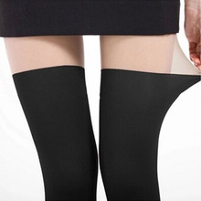 Pantyhose Stockings Tights Collant Medias Over-The-Knee-Tights Nylon Woman's Summer Patchwork