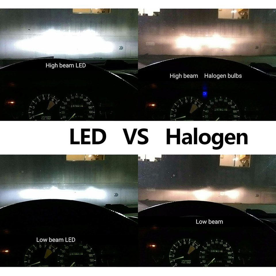 Medium Of Halogen Vs Led