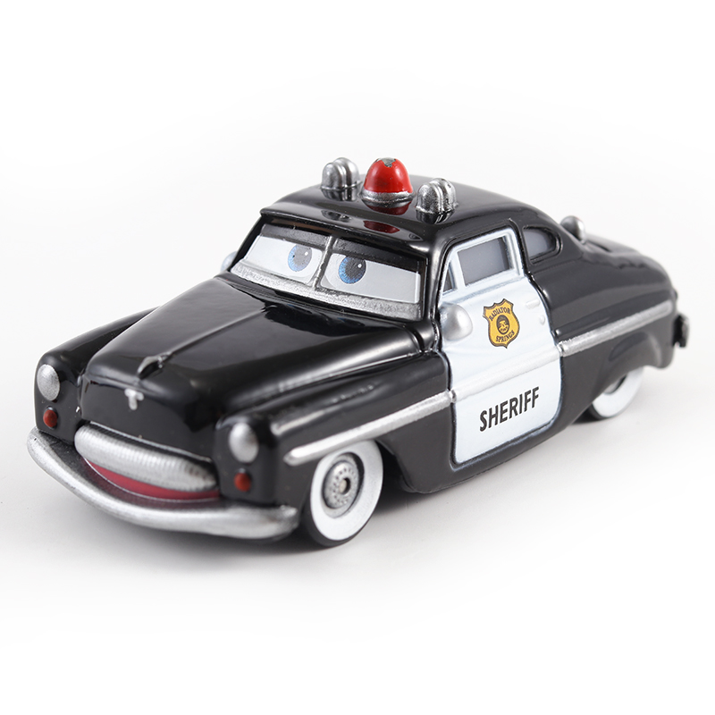 Cars Disney Pixar Cars Sheriff Metal Diecast Toy Car 1:55 Loose Brand New In Stock Disney Cars2 And Cars3 Free Shipping цена