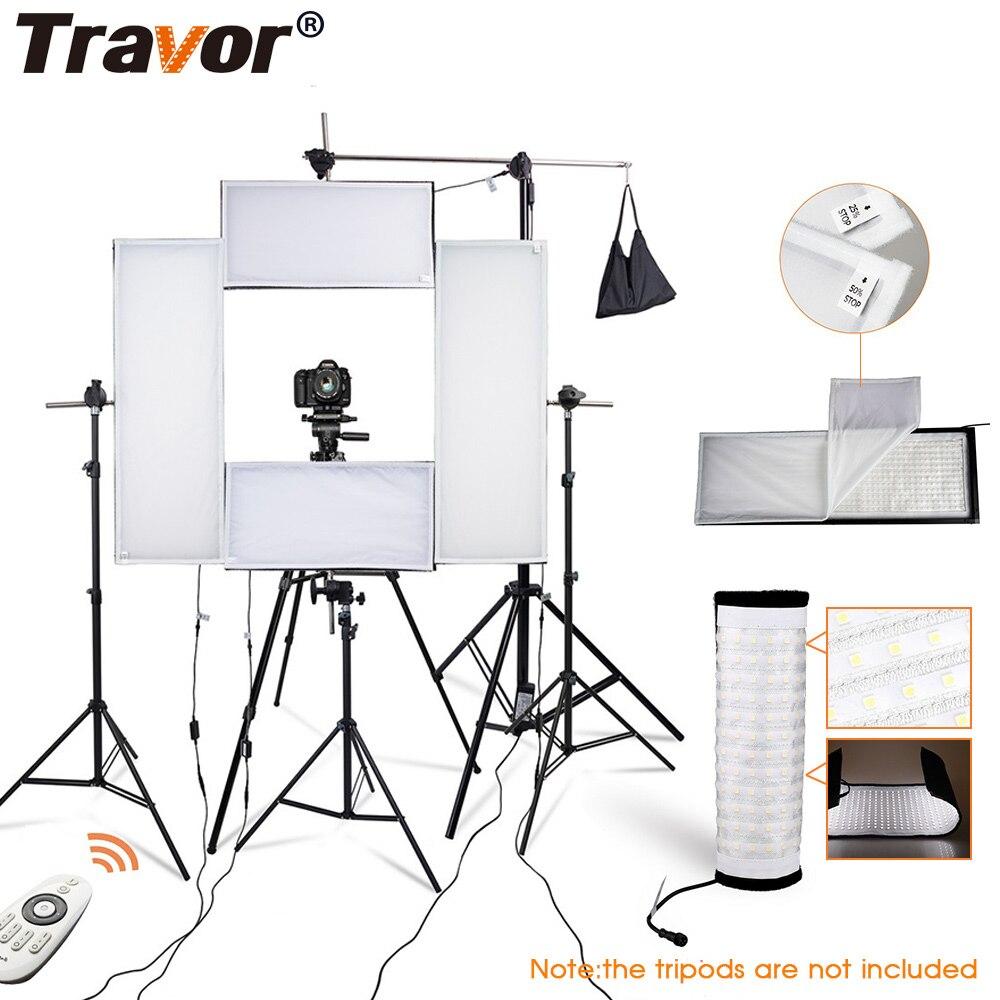 Travor photo studio 4in1 flexible LED lumière vidéo 2.4G télécommande dimmable 5500K studio lumière photographie lumière avec trépied