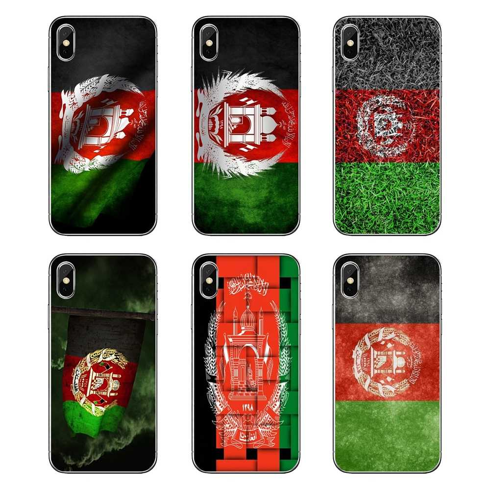 Transparent Soft Cases Covers For iPod Touch iPhone 4 4S 5 5S 5C SE 6 6S 7 8 X XR XS Plus MAX Afghan Afghanistan AF flag Banner
