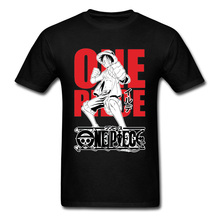 цены на One Piece Luffy T-shirt Men Japanese Anime T Shirt Zoro Samurai Spirit Tshirt Youth Black Tops White Cotton Tees Custom Designer в интернет-магазинах