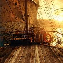Парусная лодка палубе фон пиратский корабль фон для фотосъемки с изображением 3x3m фон для студийной фотосъемки с Виниловый фон для студийной съемки