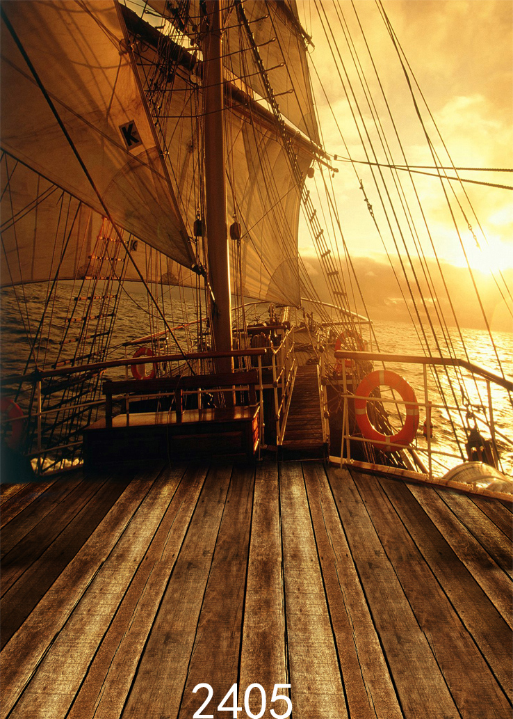 Sailing Boat Deck Background Pirate Ship Photography