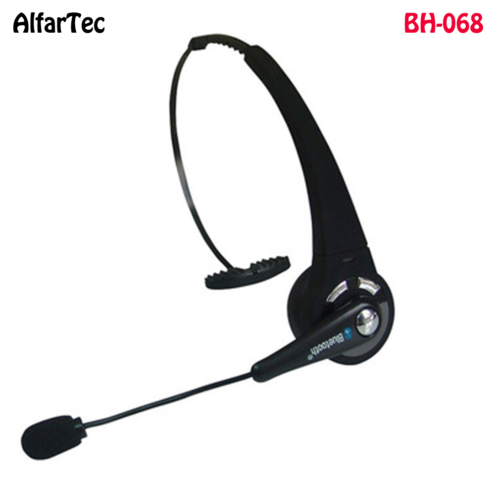 Bluetooth Mono Wireless Headphone With Mic Noise Canceling Headband Multipoint Handsfree BH-068 For Mobile Phone Laptop PS3 PC bh 23 wireless headphone