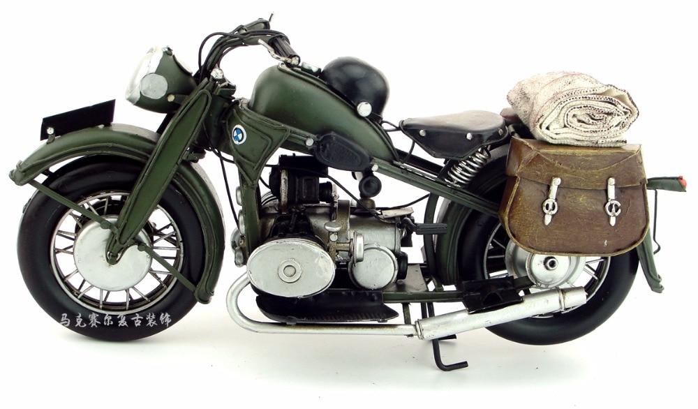Antique classical motorcycle model retro vintage wrought creative decoration, iron art