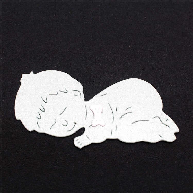 Sleeping Baby ตัดโลหะตายใหม่ 2019 หัตถกรรมแสตมป์ Die ตัด Embossing Card ทำ Stencil กรอบ