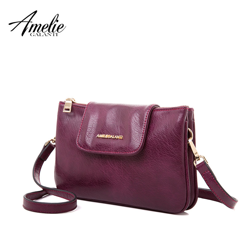 AMELIE GALANTI 2017NEW Women fashionable Messenger envelope small bag hand take inclined beautiful High quality PU single strap купальник amelie im68n41 imis
