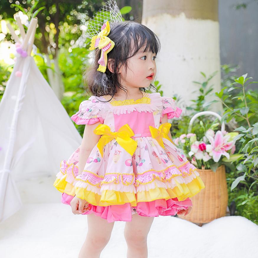 2019 Spanish Vintage Palace style Princess Dress For Girls children birthdays party Tutu dress Modis Kids