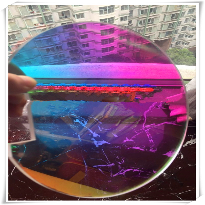 26mic JRB-2690-01 magique Iridescet arc-en-ciel dichroïque Film pour manteau de pluie parapluie extérieur Van 1020mm W * 100 m L - 2