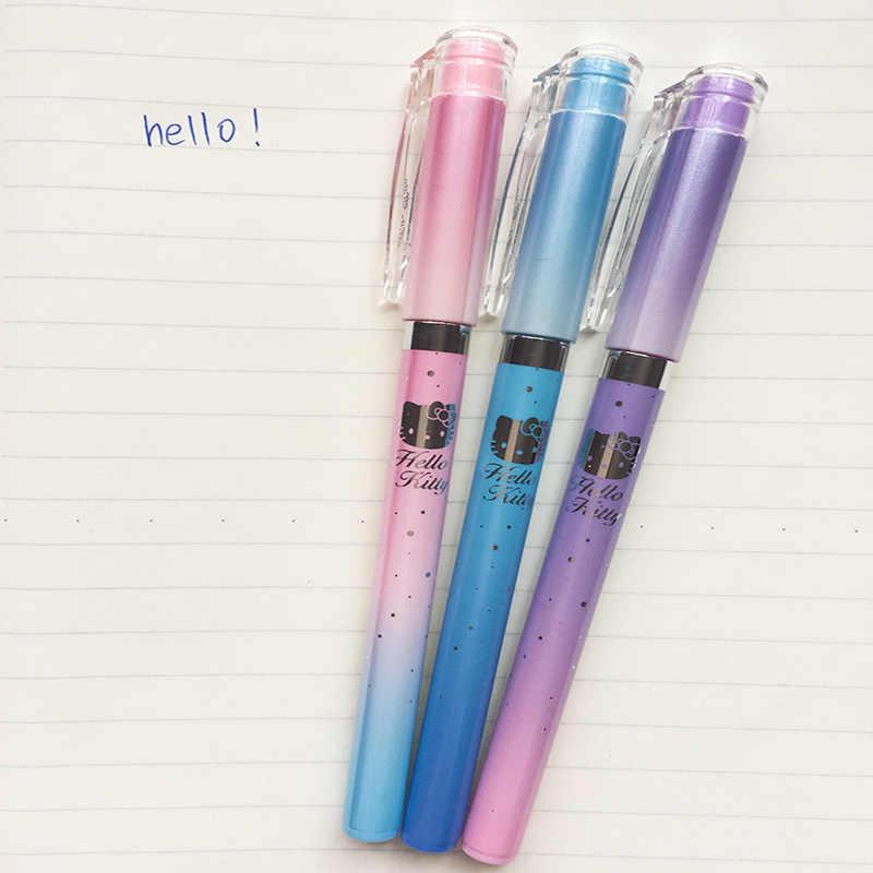 561a5534f ... 3X Kawaii Pastel Hello Kitty Kitten Gel Pen School Office Supply  Student Stationery Kids Gifts Black ...
