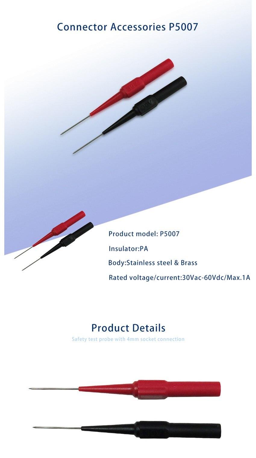 P5007 10Pcs Insulation Piercing Needle Non-destructive Multimeter Test Probes