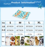 Pet Dog Self Cooling Mat Pad for Kennels Crates and Beds Arf Pets Free shipping(D156)