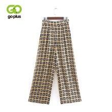 GOPLUS Woman Pants Bohemian Full Length Floral Print High Waist Wide Leg Pants Loose Bottoms Femme Pants Female Trousers C8953