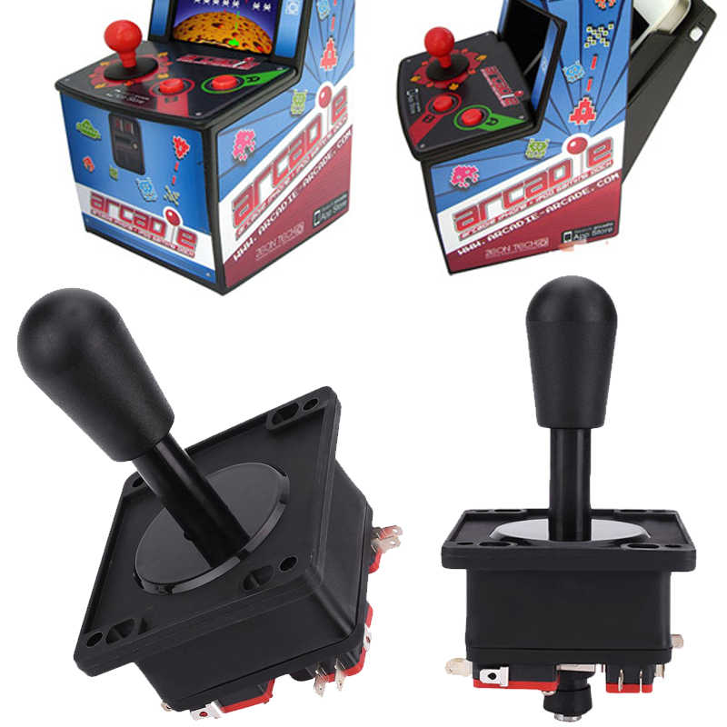 Newest 8 way DIY Game Joystick Red Ball Fighting Stick Replacement Parts For Game Classic Black Arcade Joystick