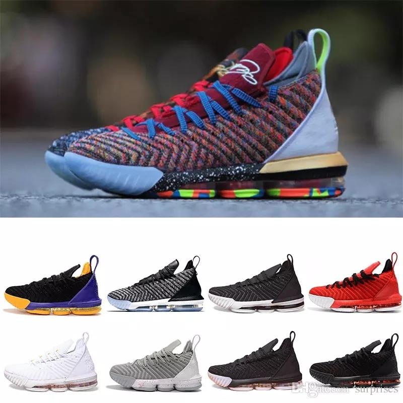 LeBron 16 Fresh Bred Basketball shoes LeBron 16 Oreo AO2595-006 LeBron 16 Triple Black james 16 size us7-us12