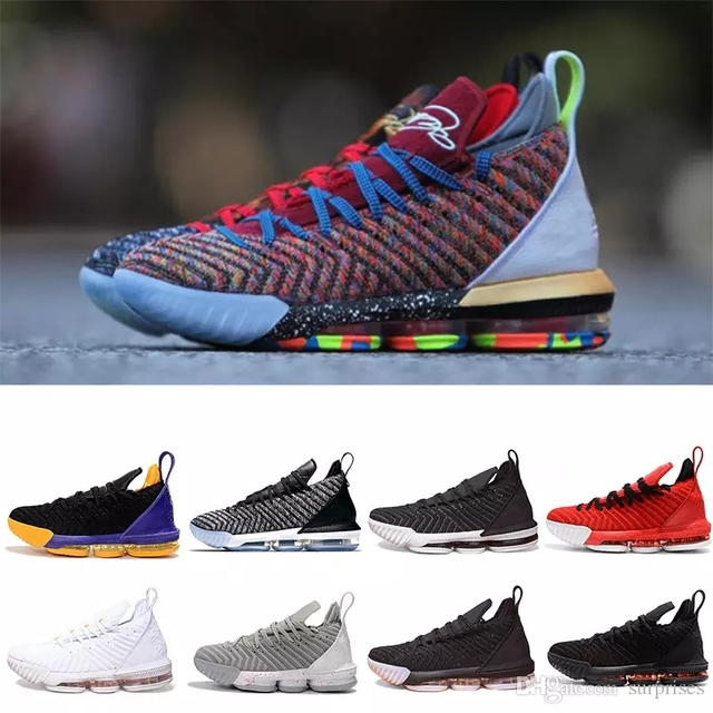 LeBron 16 Fresh Bred Basketball shoes LeBron 16 Oreo AO2595-006 LeBron 16  Triple Black james 16 size us7-us12 6ac239975