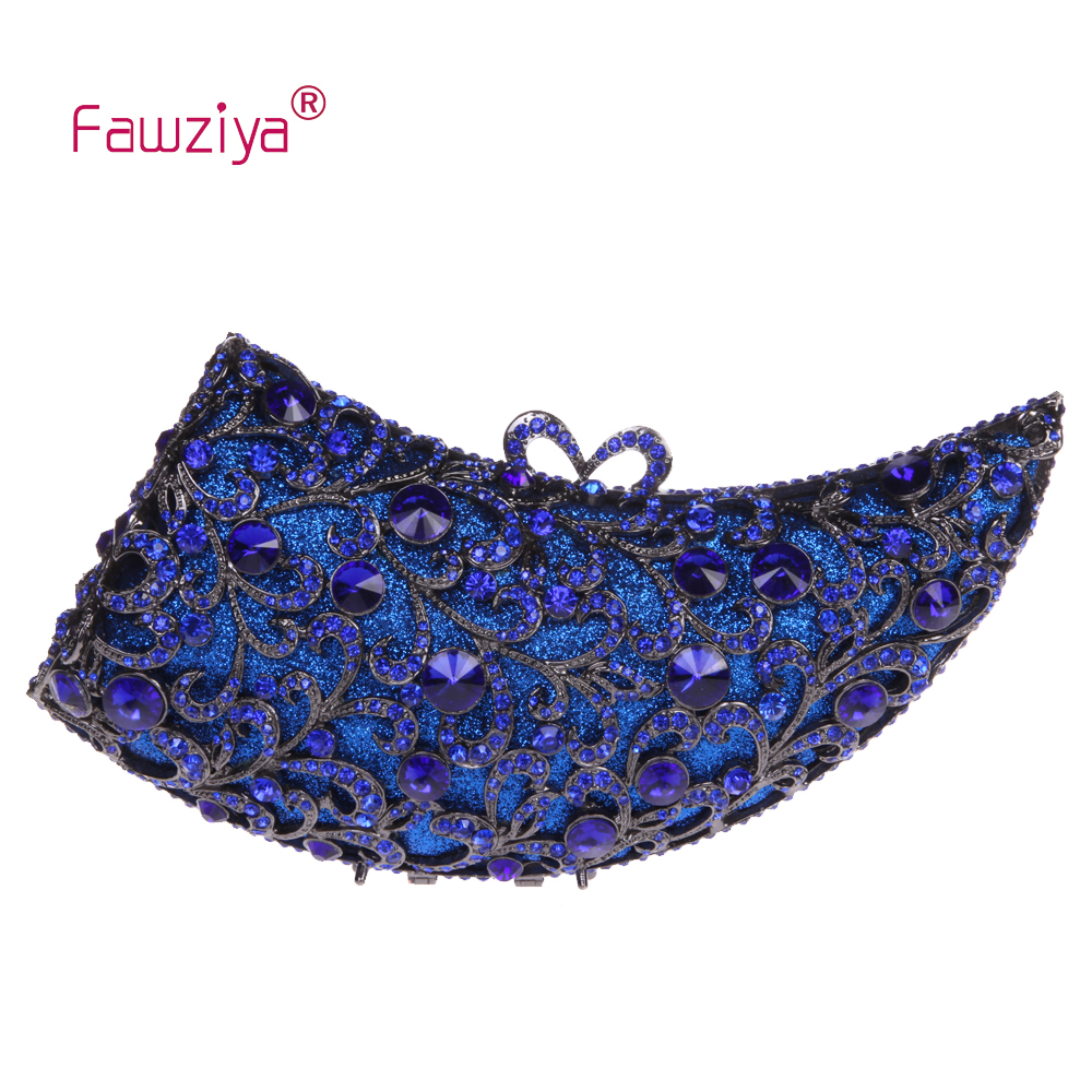 купить  Fawziya Cross Body Bags Ox Horn MIni Size Bling Purses For Women Evening Bag With Rhinestones  недорого