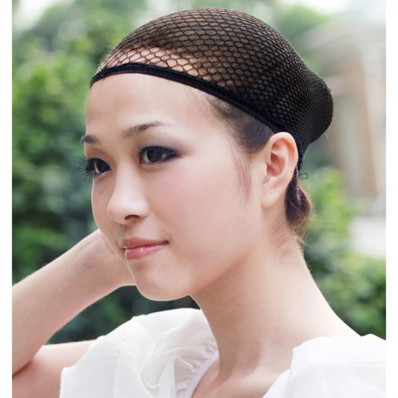 1 Pc Fashion Stretchable Mesh Wig Cap Black Mesh Stretchable Mesh Wig Cap Elastic Hair Snood Nets for Cosplay Free Shipping цена