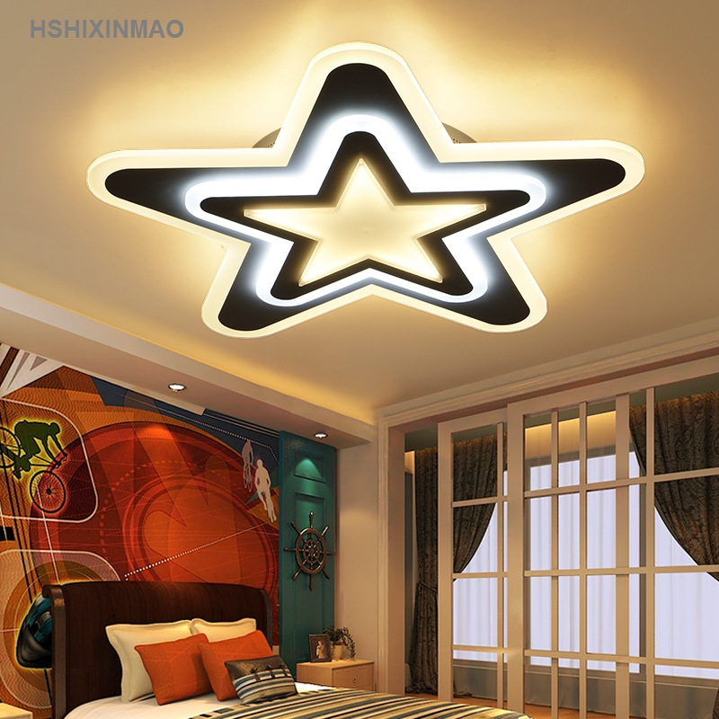 Creative led acrylic ceiling lamp star bedroom lamp living room dining room study children's room cartoon Ceiling lights 90-260V apple creative acrylic laser light living room bedroom dining room den diameter 60cm ac220v