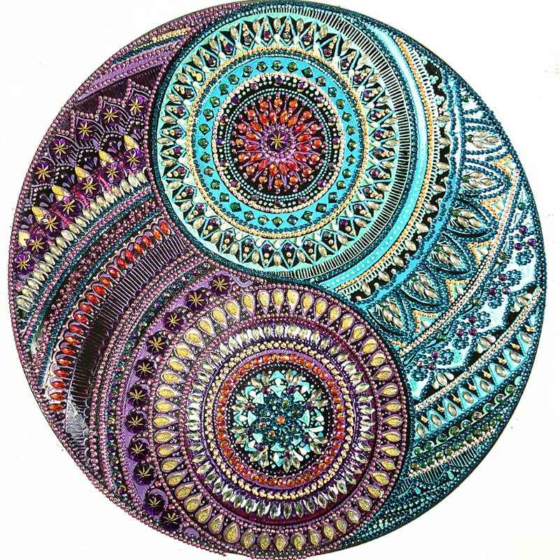 Circle Round 5D Special Shaped Diamond Painting Embroidery Needlework Rhinestone Crystal Cross Craft Stitch Kit DIY