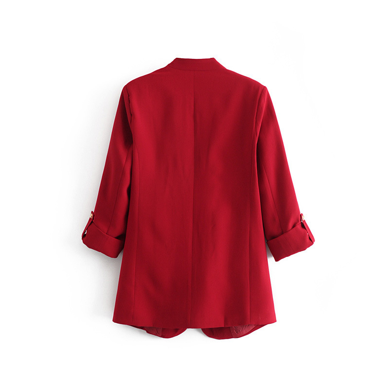 Spring Women Blazer Long Sleeve Open Front Lightweight Casual Office Lapel Turn Down Collar Slim Jacket Outwear Female Dropship