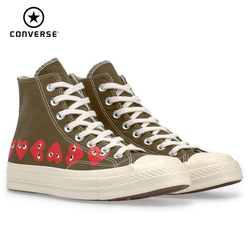 Converse X CDG PLAY New Arrival Men Skareboarding Shoes Red Heart Outdoor Sports Original Sneakers Women 162973C