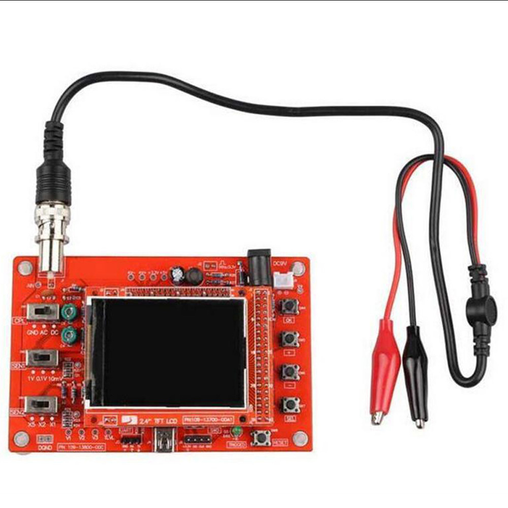 Fully Welded Assembled DSO138 2.4 TFT Digital Oscilloscope (1Msps) + Probe B1 new 1pcs dso138 2 4 tft digital oscilloscope kit diy parts 1msps with probe