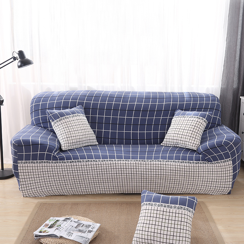 Simple Elastic Plaid Sofa Slipcovers Couch Seat Covers Durable Protector for Living Room Office Home Decoration Mother New Gifts