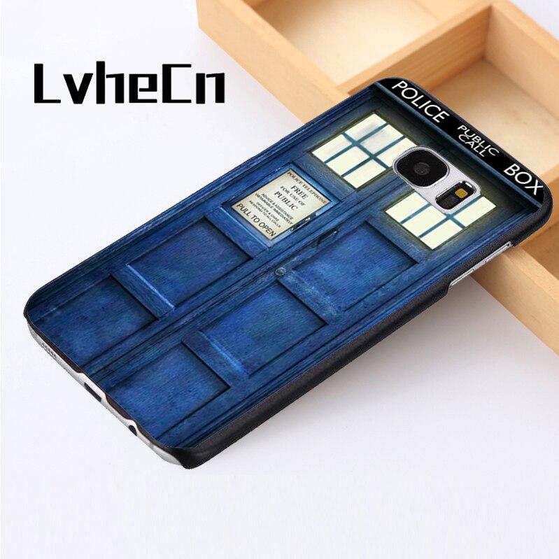 LvheCn phone case cover For Samsung Galaxy S3 S4 S5 mini S6 S7 S8 edge plus Note2 3 4 5 7 8 Doctor Who Police Box Tardis