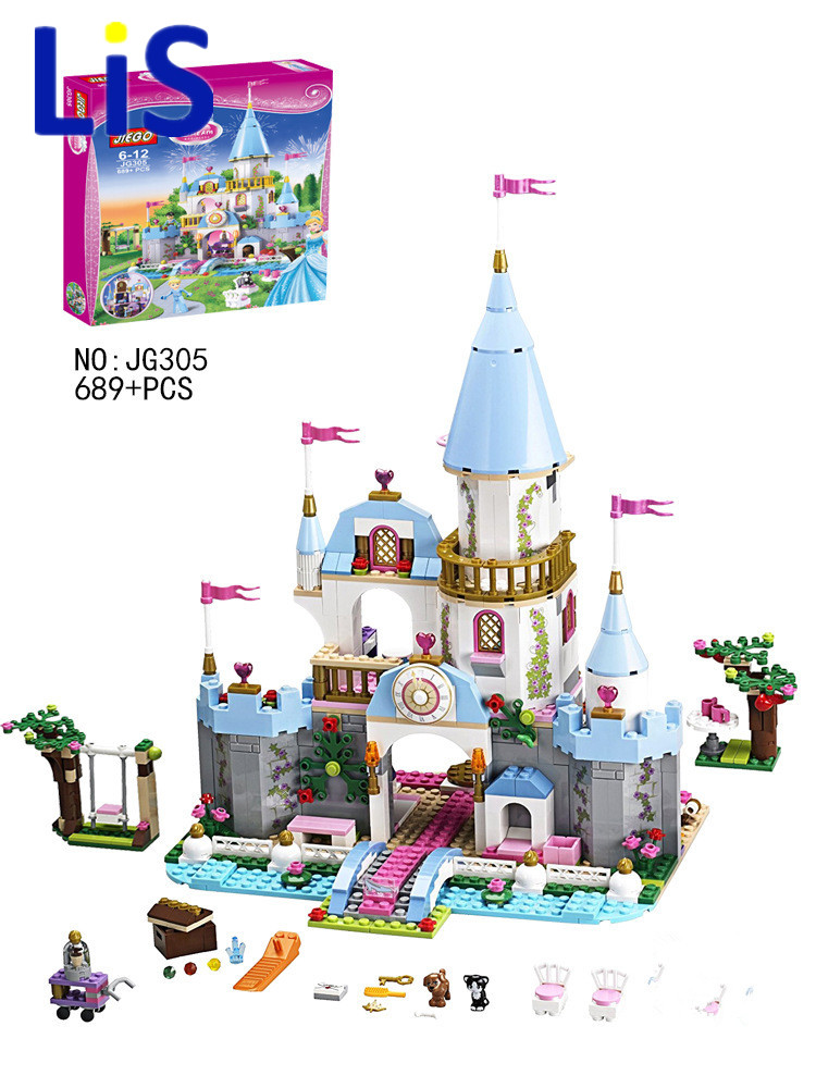 Friend Blocks SY325 699Pcs Cinderella Princess Romantic Castle Model Building Kits 79279 Girl educational Toys Compatible 41055 lepin 16008 4160pcs cinderella princess castle city model building block kid educational toys for gift compatible legoed 71040