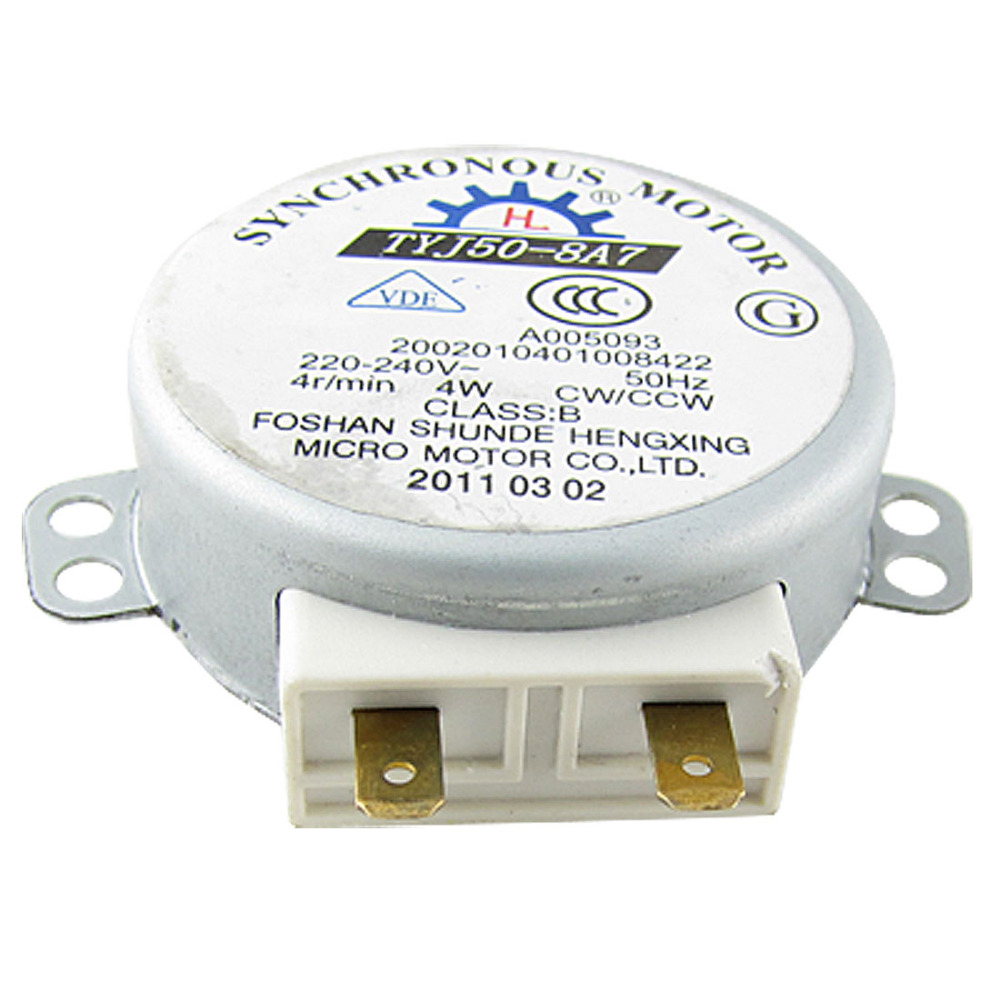 цена на UXCELL High Quality 1Pcs 220-240V AC 4RPM 4W CW/CCW Microwave Oven Turntable Synchronous Motor