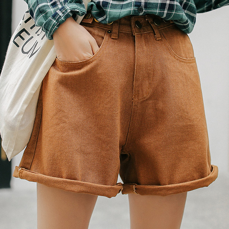 Jean Shorts Women High Waist Short Pants Female Summer Wide Leg Denim Shorts Casual Loose Short Jeans Feminino Womens Clothing