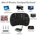 Mini Teclado Sem Fio i8 2.4 GHz Inglês Touchpad Air Mouse Teclado Controle Remoto Para Android TV Box Tablet Pc Notebook