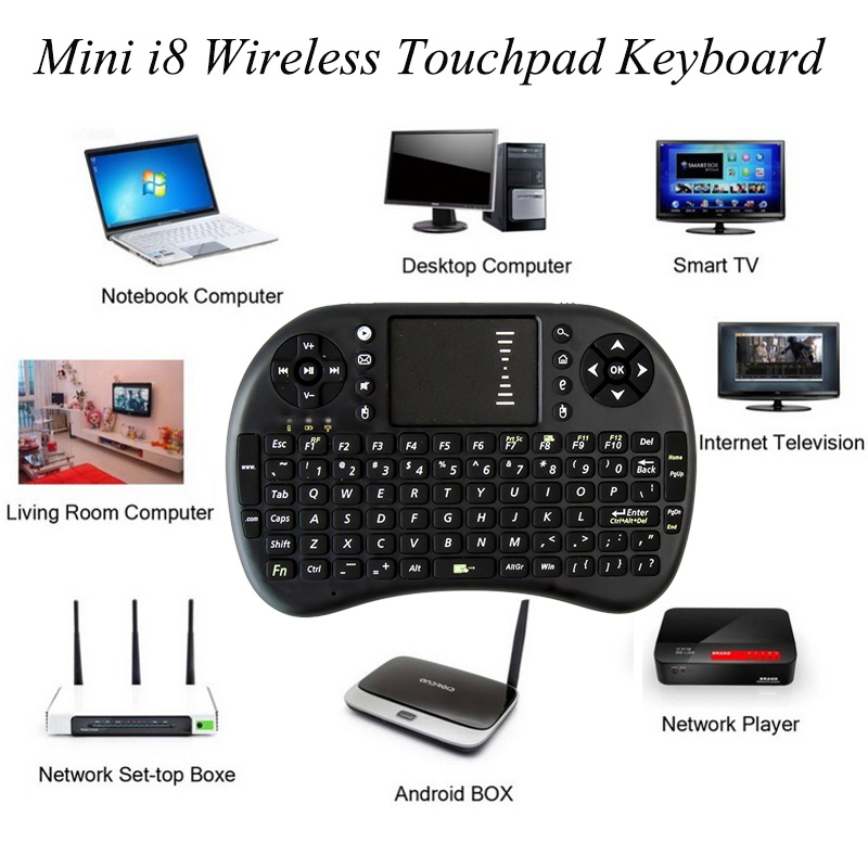 Mini I8 Wireless Keyboard 24GHz English Air Mouse Remote Control Touchpad For Android TV Box Notebook Tablet Pc