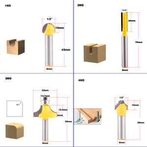 Image 2 - 1pc 8mm Shank wood router bit Straight end mill trimmer cleaning flush trim corner round cove box bits tools Milling Cutte CHWJW