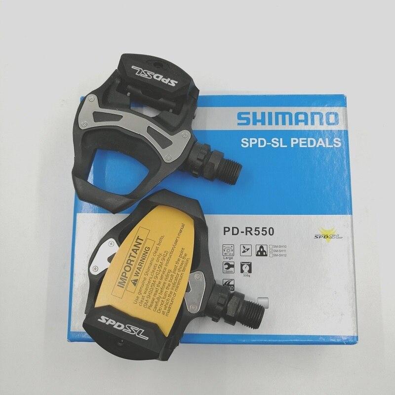 Shimano SPD-SL PD R550 vélo de route pédale de vélo Selft Pédales Avec SM-SH11 Taquet De Verrouillage Ensemble PD-M550 vélo de route pédale de vélo