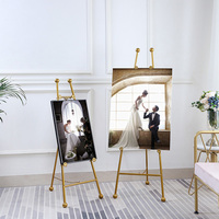 European Style Easel Wedding Party Easel Stand Artist Metal Painting Stand Picture Advertisement Display Easel for Painting