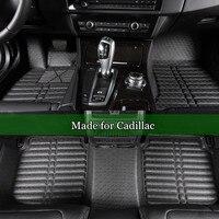 Double Layer Car Floor Mats For Cadillac CTS XTS SRX SLS Escalade 3D Leather Coil Mats