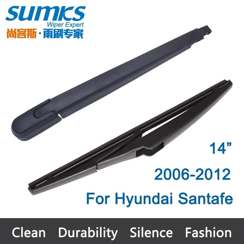 """Prix pour Nouvelle Fenêtre Arrière D'essuie-glace Bras et la Lame Pour Hyundai Santafe (2006-2012) 14 """"R14A680"""